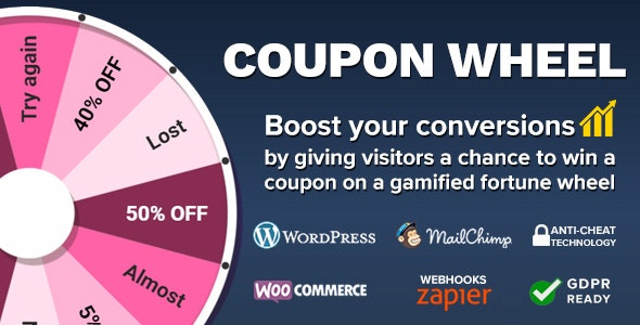 Download Coupon Wheel For WooCommerce and WordPress v3.0.6 Free / Nulled