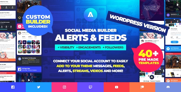 Download Asgard v1.1.0 - Social Media Alerts & Feeds WordPress Builder - Facebook, Instagram, Twitch and more! Free / Nulled