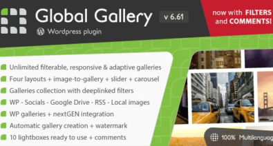 Download Global Gallery v6.611 - Wordpress Responsive Gallery Free / Nulled