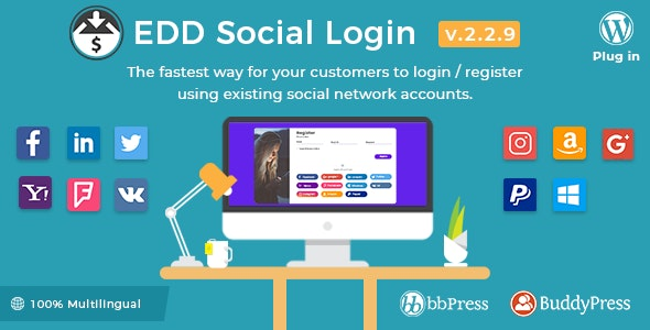 Download Easy Digital Downloads v2.2.9 - Social Login Free / Nulled
