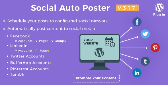Download Social Auto Poster v3.1.7 - WordPress Plugin Free / Nulled