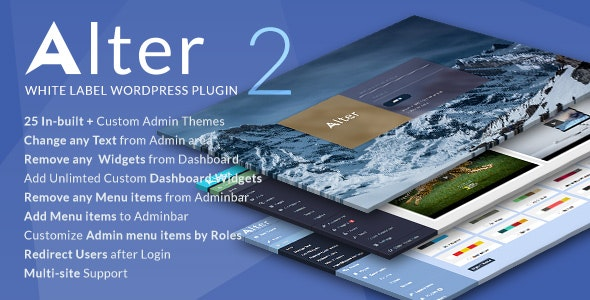 Download WpAlter v2.4.0 - White Label Wordpress Plugin Free / Nulled