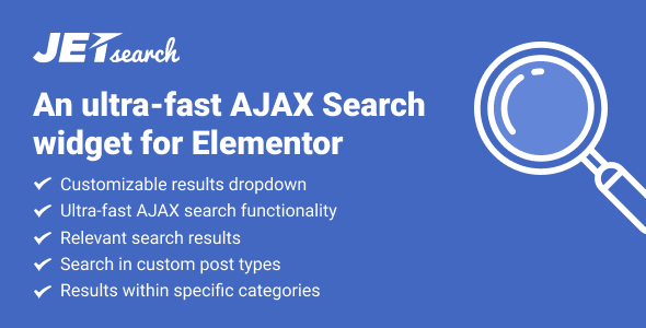 Download JetSearch v2.0.2 - AJAX Search widget for Elementor Free / Nulled