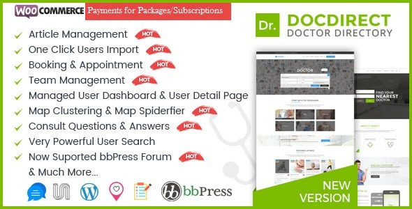 Download DocDirect v8.0.7 - WordPress Theme for Doctors and Healthcare Directory Free / Nulled