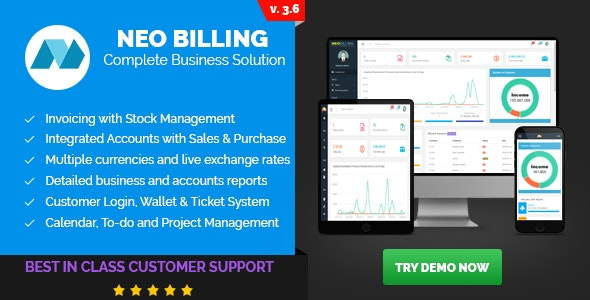 Download Neo Billing v3.6 - Accounting, Invoicing And CRM Software Free / Nulled