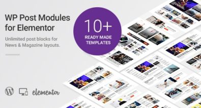 Download WP Post Modules for NewsPaper and Magazine Layouts (Elementor Addon) v1.5.1 Free / Nulled