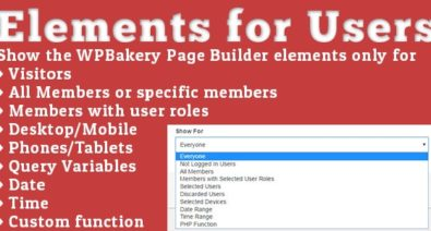 Download Elements for Users v1.5.4 - Addon for WPBakery Page Builder (formerly Visual Composer) Free / Nulled