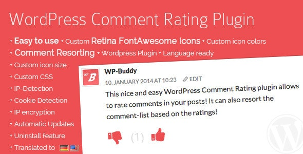 Download WordPress Comment Rating Plugin v1.6.7 - Free / Nulled