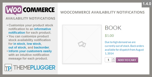 Download WooCommerce Availability Notifications v1.4.0 - Free / Nulled