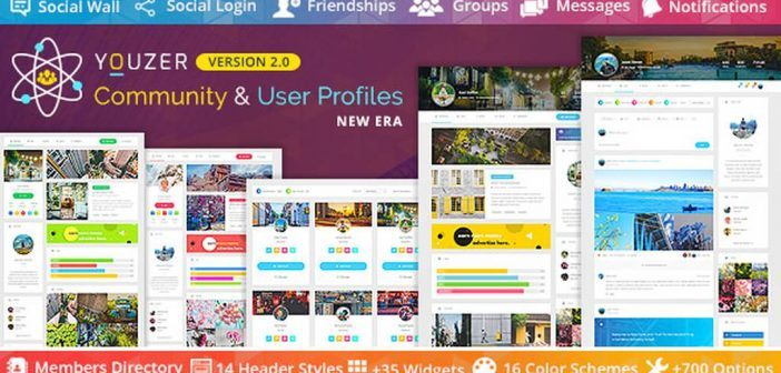 Download Youzer v2.3.9 - Buddypress Community & WordPress User Profile Plugin Free / Nulled