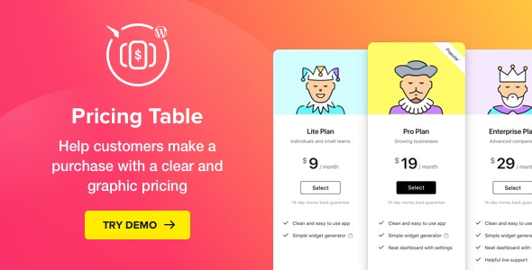 Download Pricing Table v2.5.3 - WordPress Plugin Free / Nulled