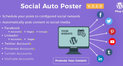 Download Social Auto Poster v3.2.0 - WordPress Plugin Free / Nulled