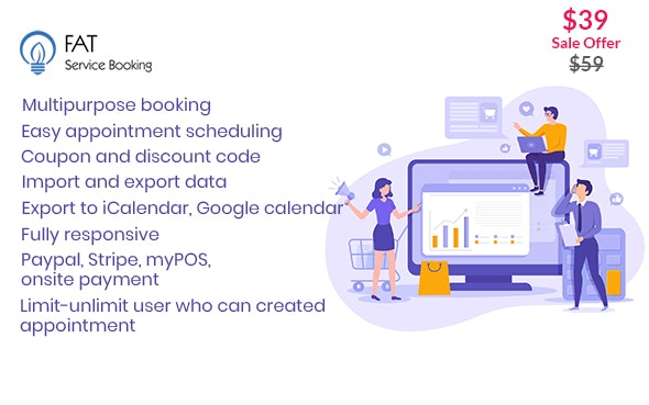 Download Fat Services Booking v2.15 - Automated Booking and Online Scheduling Free / Nulled