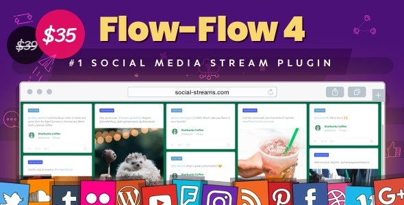 Download Flow-Flow v4.1.24 - WordPress Social Stream Plugin Free / Nulled