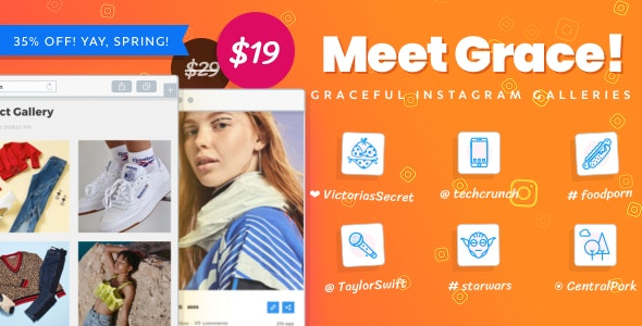 Download Instagram Feed Gallery  v1.1.13 - Grace for WordPress Free / Nulled