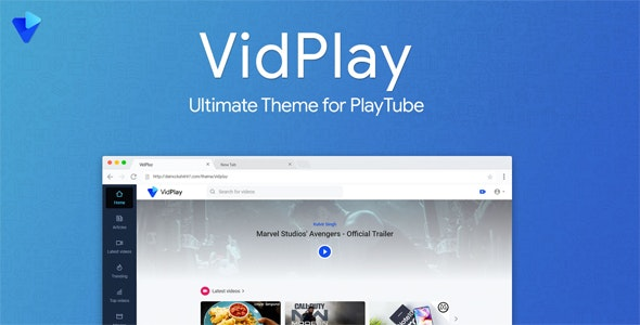 Download VidPlay v1.4 - The Ultimate PlayTube Theme Free / Nulled