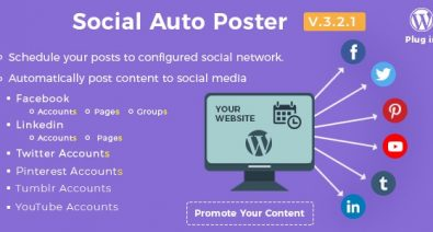 Download Social Auto Poster v3.2.1 - WordPress Plugin Free / Nulled