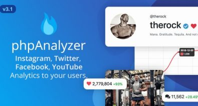 Download phpAnalyzer v3.1.2 - Social Media Analytics Statistics Tool ( Instagram, Twitter, YouTube, Facebook ) Free / Nulled
