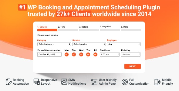 Download Bookly Booking Plugin v17.7 + Addons Pack Free / Nulled