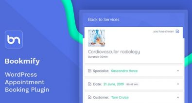 Download Bookmify v1.2.9 - Appointment Booking WordPress Plugin Free / Nulled