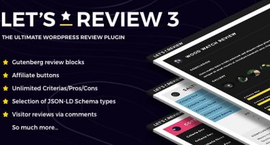 Download Let's Review v3.0.8 - WordPress Plugin With Affiliate Options Free / Nulled