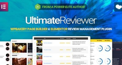 Download Ultimate Reviewer v2.2.1 - Elementor & WPBakery Page Builder Addon Free / Nulled