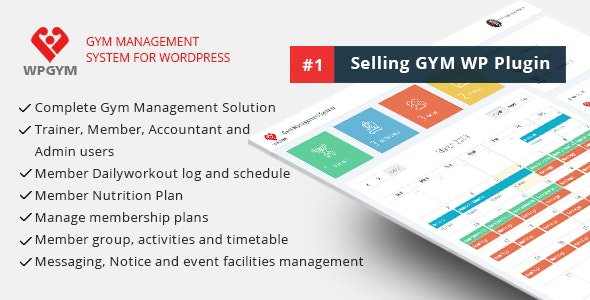 Download WPGYM v3.5.0 - Wordpress Gym Management System Free / Nulled