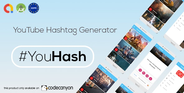 Download YouHash v1.0 - YouTube Hashtags Generator ( Admob - GDPR - Android Studio) Free / Nulled
