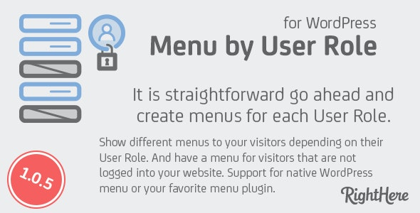 Download Menu by User Role for WordPress v1.0.5 Free / Nulled