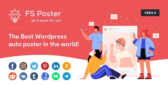 Download FS Poster v3.3.6 - WordPress Auto Poster & Scheduler Free / Nulled
