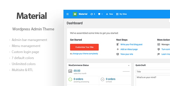 Download Materil v1.2.0 - Wordpress Material Design Admin Theme Free / Nulled