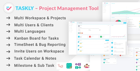Download TASKLY - Project Management Tool Free / Nulled