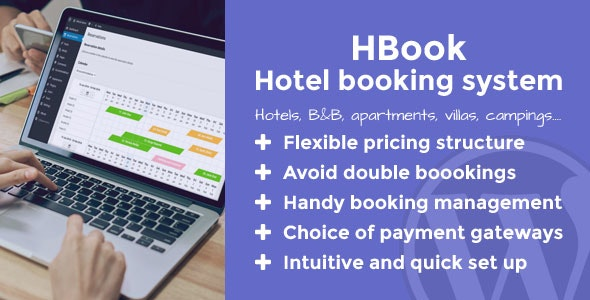 Download HBook v1.9.1 - Hotel booking system - WordPress Plugin Free / Nulled