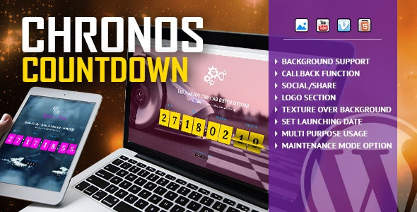 Download Chronos CountDown v1.2 - Responsive Flip Timer Free / Nulled