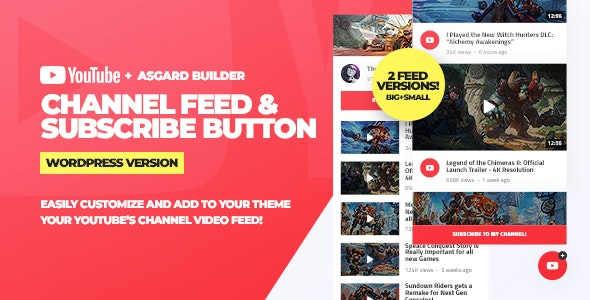 Download Youtube Channel Feeds and Subscribe Box v1.0.0 - WordPress Plugin Free / Nulled