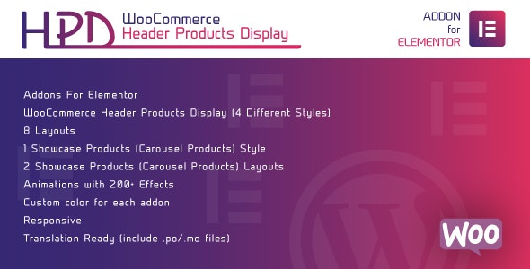 Download WooCommerce Header Products Display for Elementor v1.0 - WordPress Plugin Free / Nulled