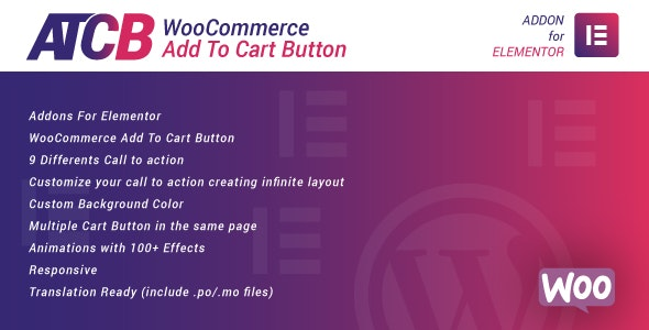 Download WooCommerce Add To Cart Button for Elementor v1.0 Free / Nulled