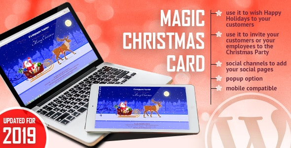 Download Magic Christmas Card With Animation v1.0.1 - WordPress Plugin Free / Nulled