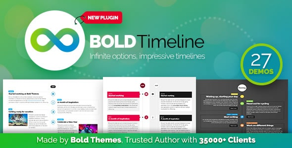Download Bold Timeline v1.0.2 - WordPress Timeline Plugin Free / Nulled