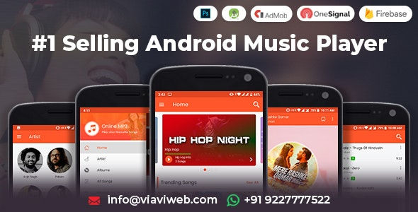 Download Android Music Player - Online MP3 (Songs) App (25 October 2019) Free / Nulled