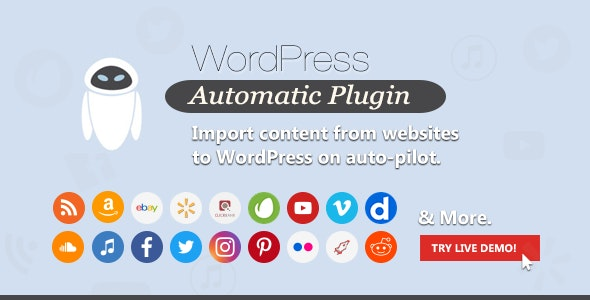 Download Wordpress Automatic Plugin v3.46.11 Free / Nulled