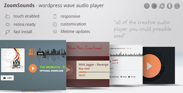 Download ZoomSounds v5.70 - WordPress Audio Player Free / Nulled