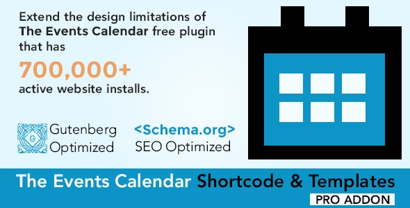 Download The Events Calendar Shortcode and Templates Pro v2.3 Free / Nulled