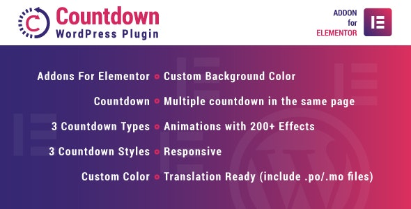 Download Countdown for Elementor v1.0.0 - WordPress Plugin Free / Nulled
