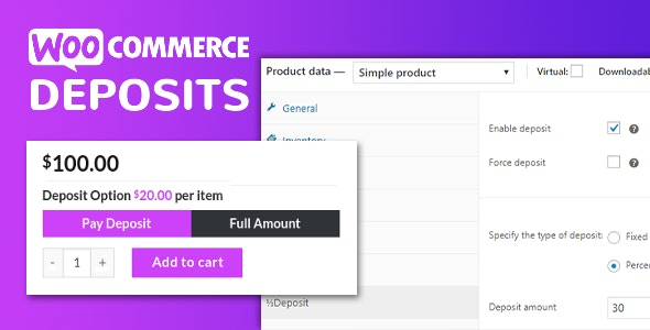 Download WooCommerce Deposits v2.5.16 - Partial Payments Plugin Free / Nulled
