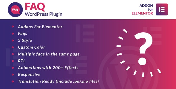 Download Faq for Elementor v1.0 - WordPress Plugin Free / Nulled
