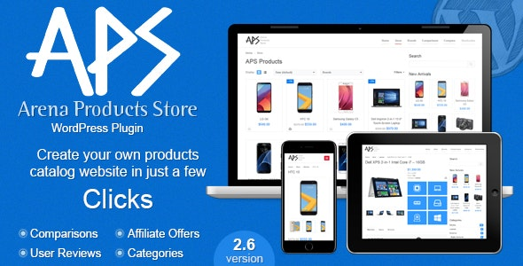 Download Arena Products Store v2.6 - WordPress Plugin Free / Nulled