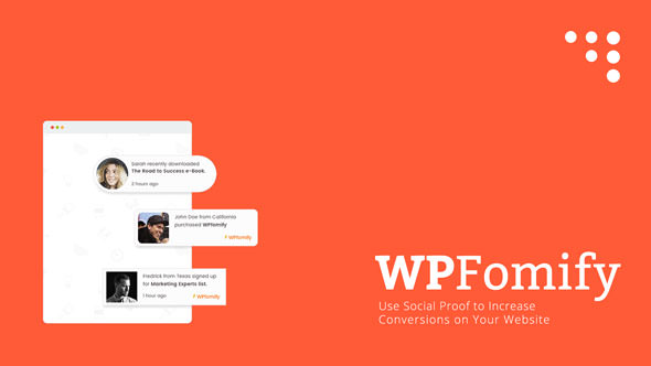Download WPfomify v2.1.1 + Addons Pack Free / Nulled