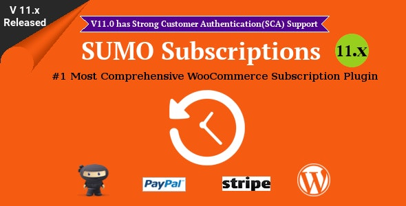 Download SUMO Subscriptions v11.2 - WooCommerce Subscription System Free / Nulled