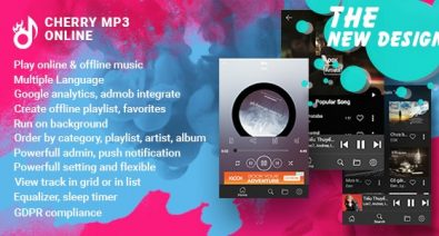 Download Cherry  v1.0 - Android Online Music Player with Admin Panel Free / Nulled